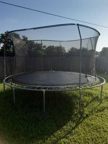 Trampoline removal in Houston, TX - Before Photo