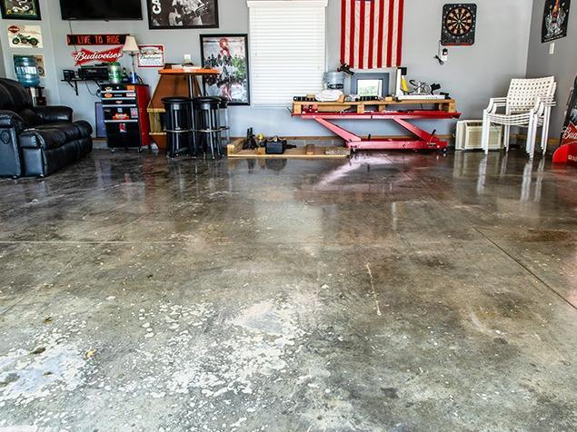 Epoxy Flooring Alternative - Before Photo