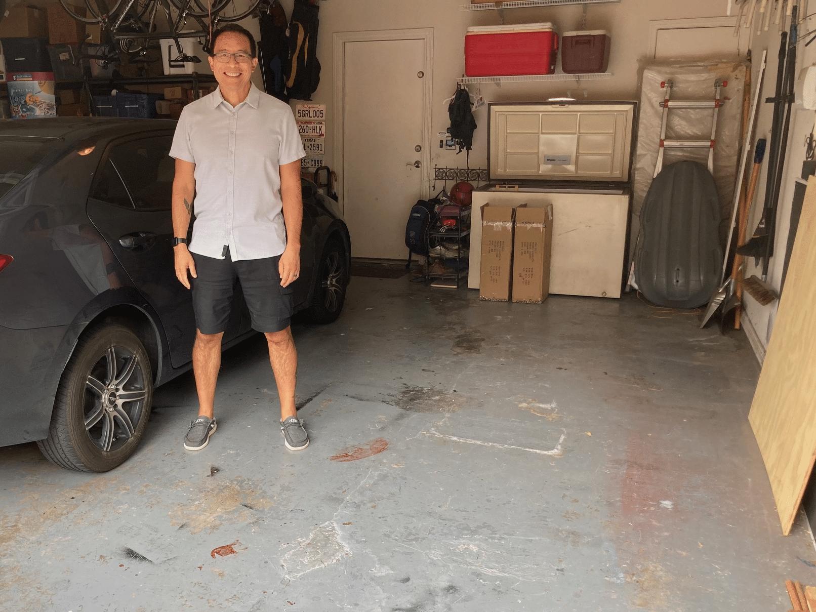 A Garage Makeover in Dallas, Texas - Before Photo