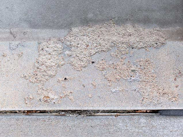 Concrete Garage Floor Renovation - Before Photo