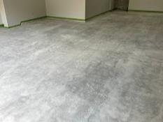 Garage floor make-over in Katy, TX - Before Photo