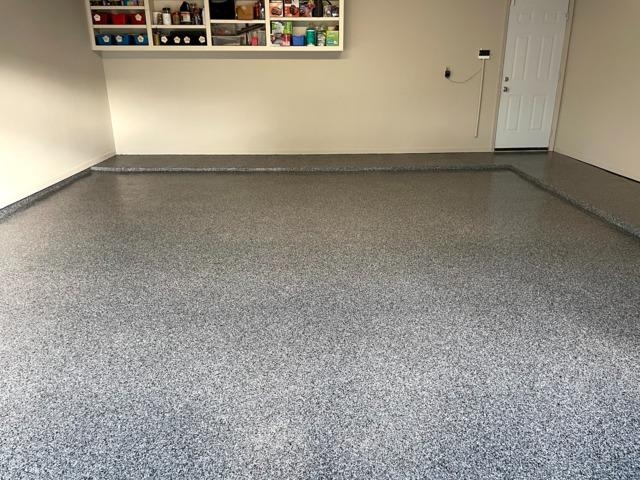 Garage flooring complete renovation in Houston, TX - After Photo