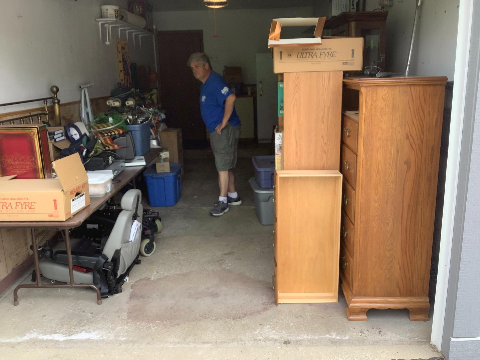 Garage Cleanout in Wood Dale, IL - Before Photo