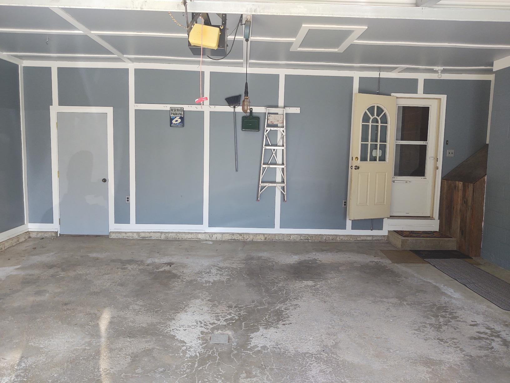 The Finishing Touch on a Beautiful Delton, Michigan Garage - Before Photo