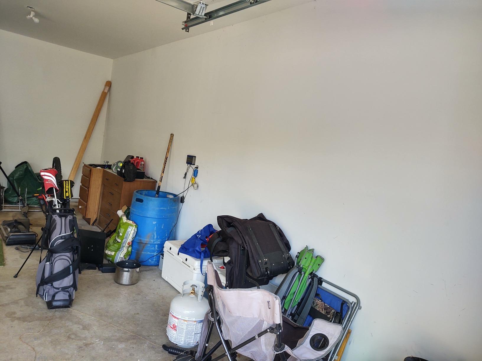 Adding Storage to a Middleville, Michigan Garage - Before Photo