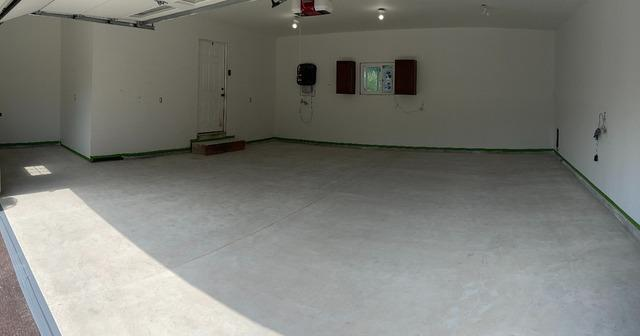 Sprucing Up A Middleville Garage Floor - Before Photo