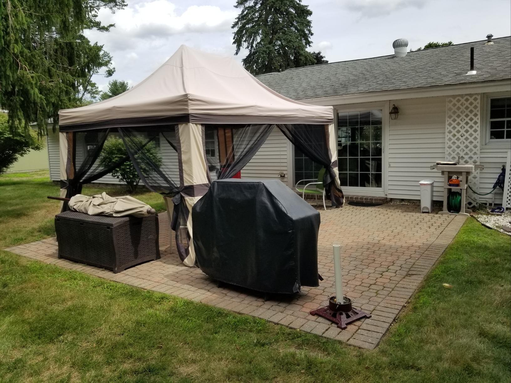 4-Season Sunroom Installation Built in Hudson, NH - Before Photo