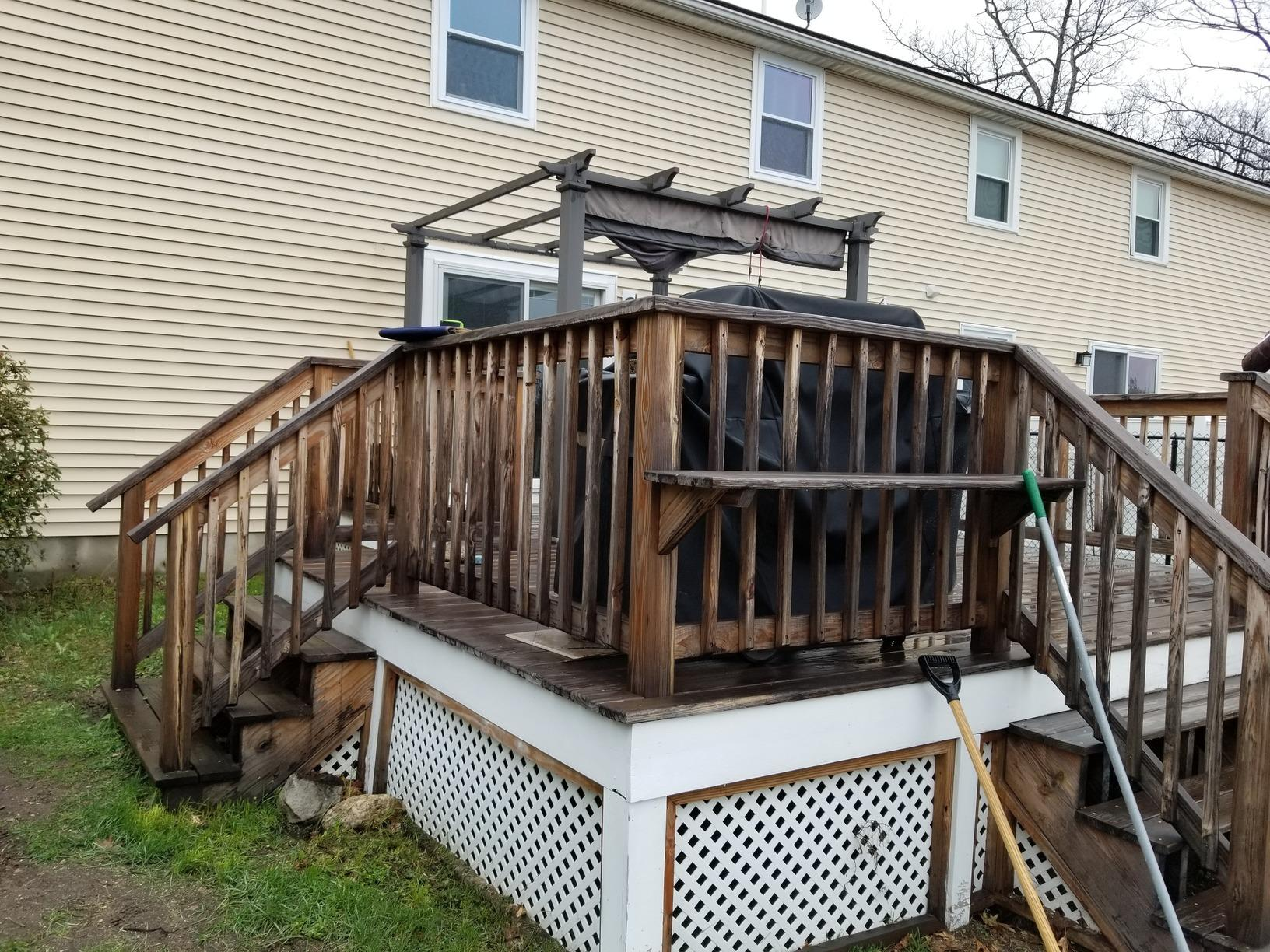 Four-Season Sunroom Built in Londonderry, NH - Before Photo