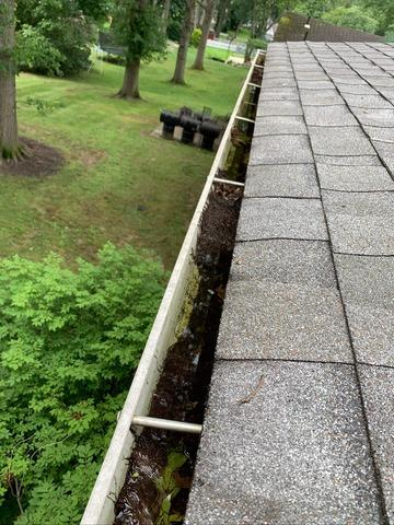 Full Gutter Replacement in Akron, Ohio - Before Photo
