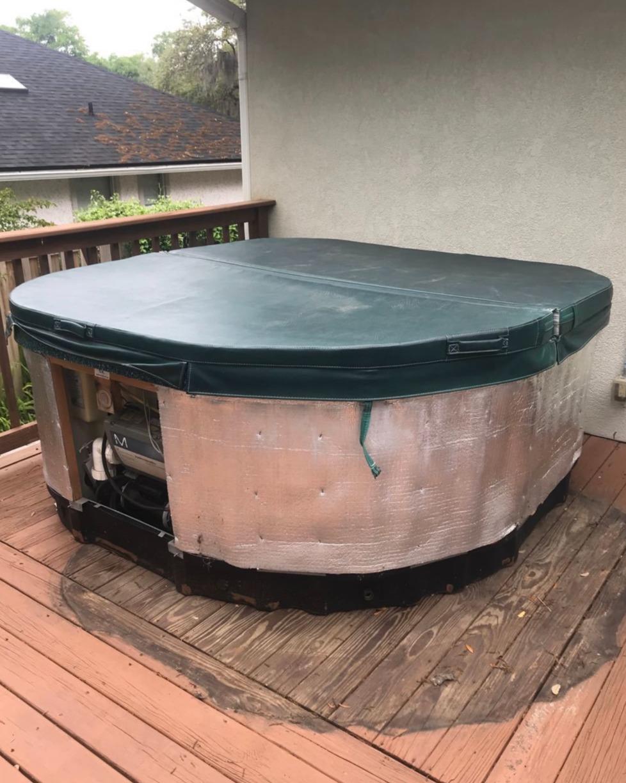Fernandina Beach, FL Hot tub removal - Before Photo