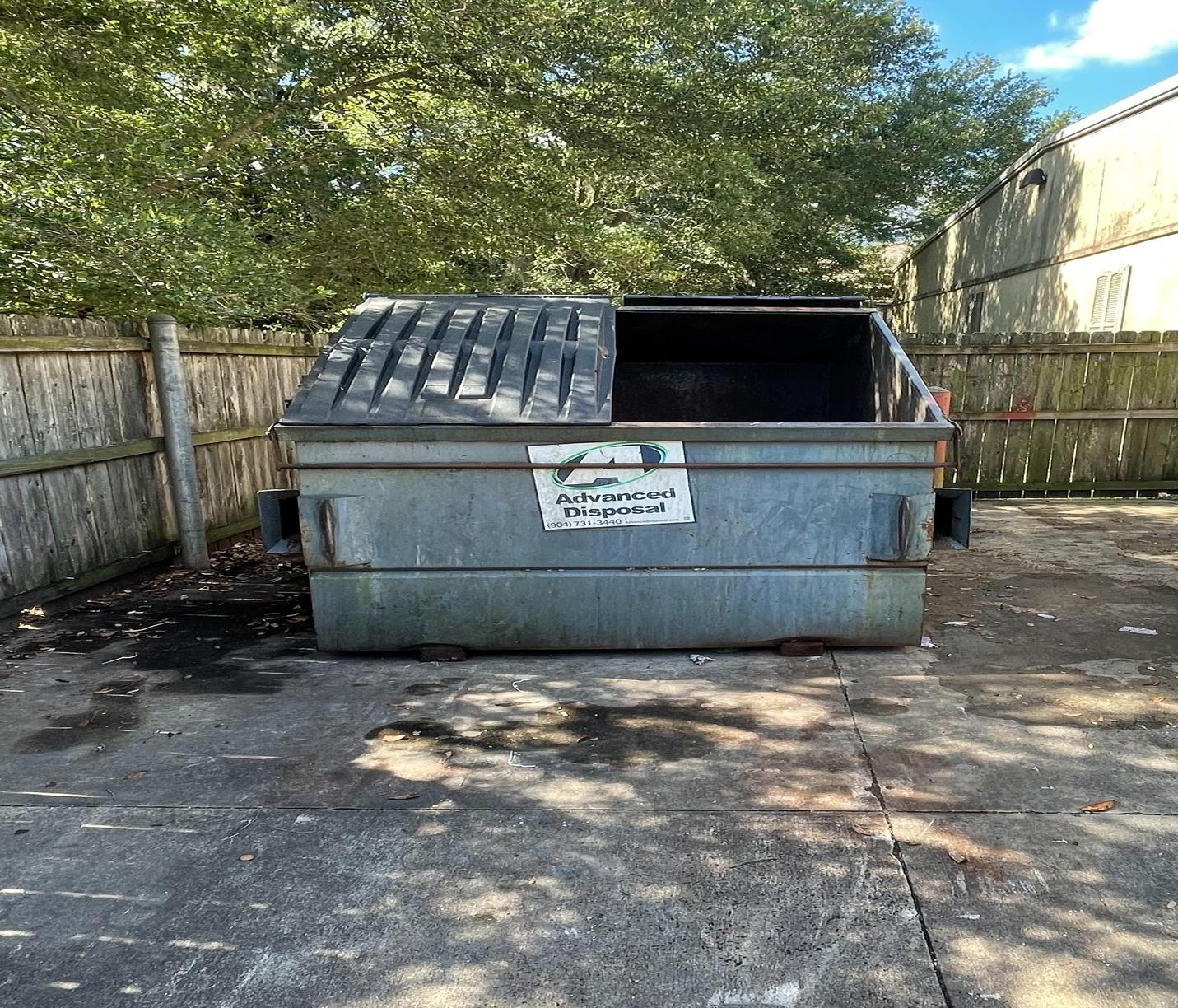 Jacksonville Florida, Commercial dumpster clean out - After Photo