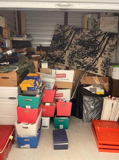 Storage Unit Cleanout Services, Stone Oak, TX - Before Photo