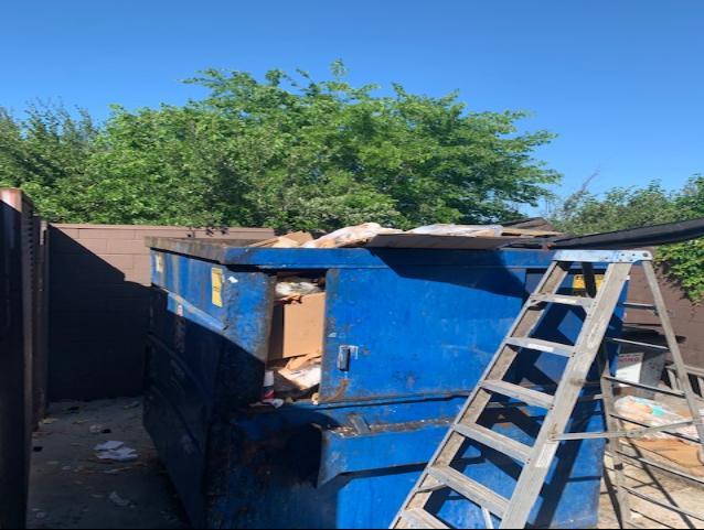 Dumpster Cleanout Services, San Antonio, TX - Before Photo