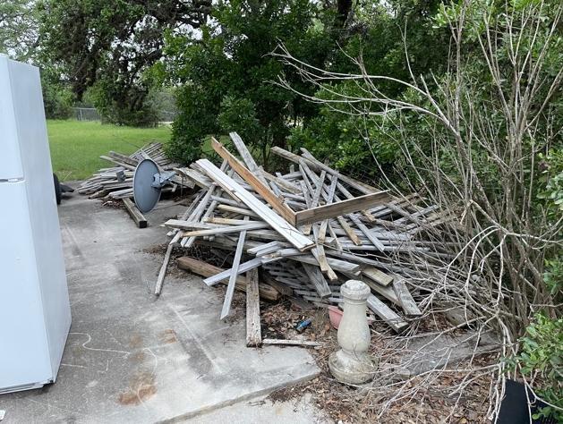 Yard Debris & Waste Removal Services, Canyon Lake, TX - Before Photo