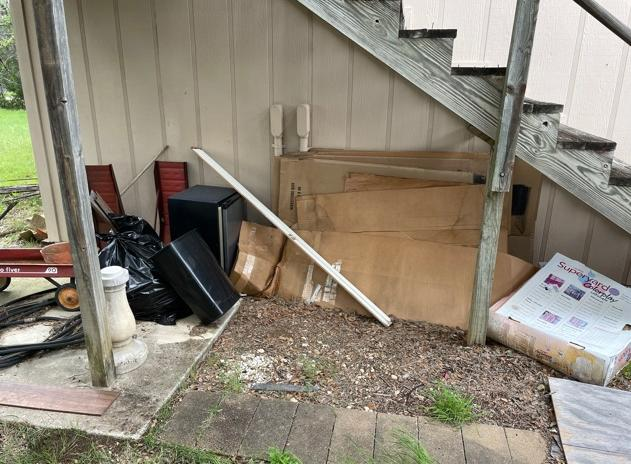 Junk Removal Services, Canyon Lake, TX - Before Photo