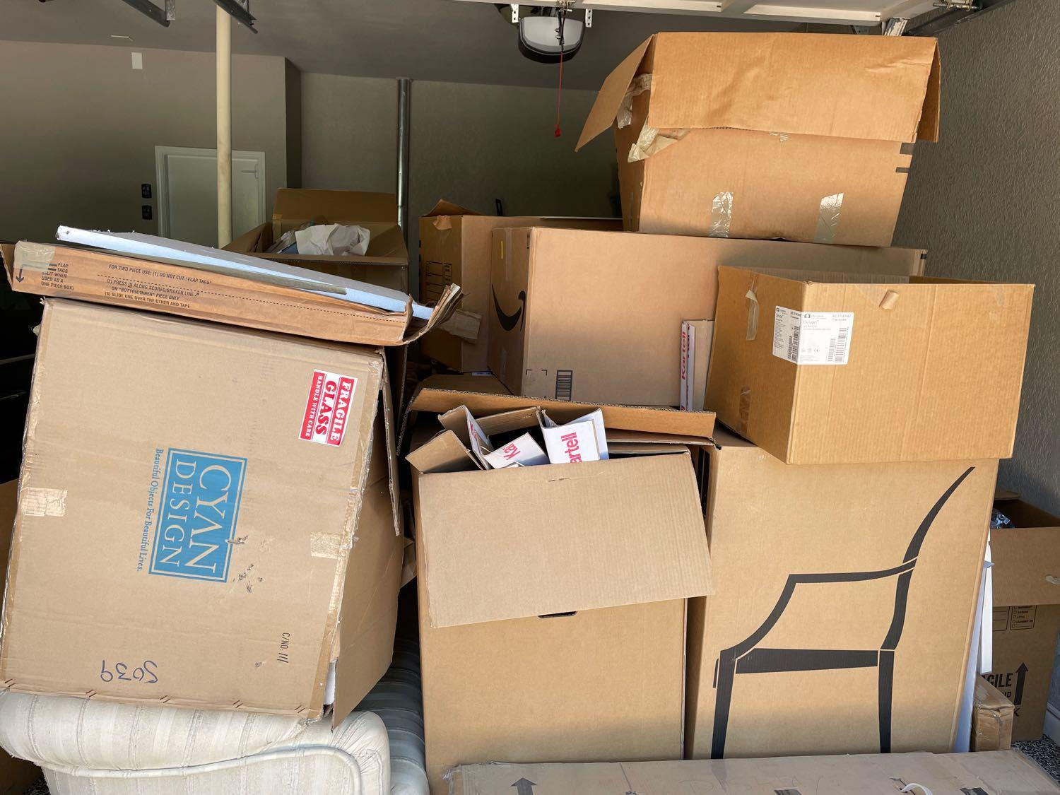 Garage Cleanout Services in Alamo Heights, TX - Before Photo