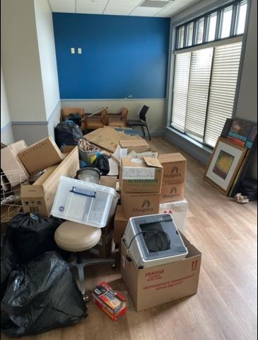 Medical Office Junk Removal Services, Stone Oak, TX - Before Photo