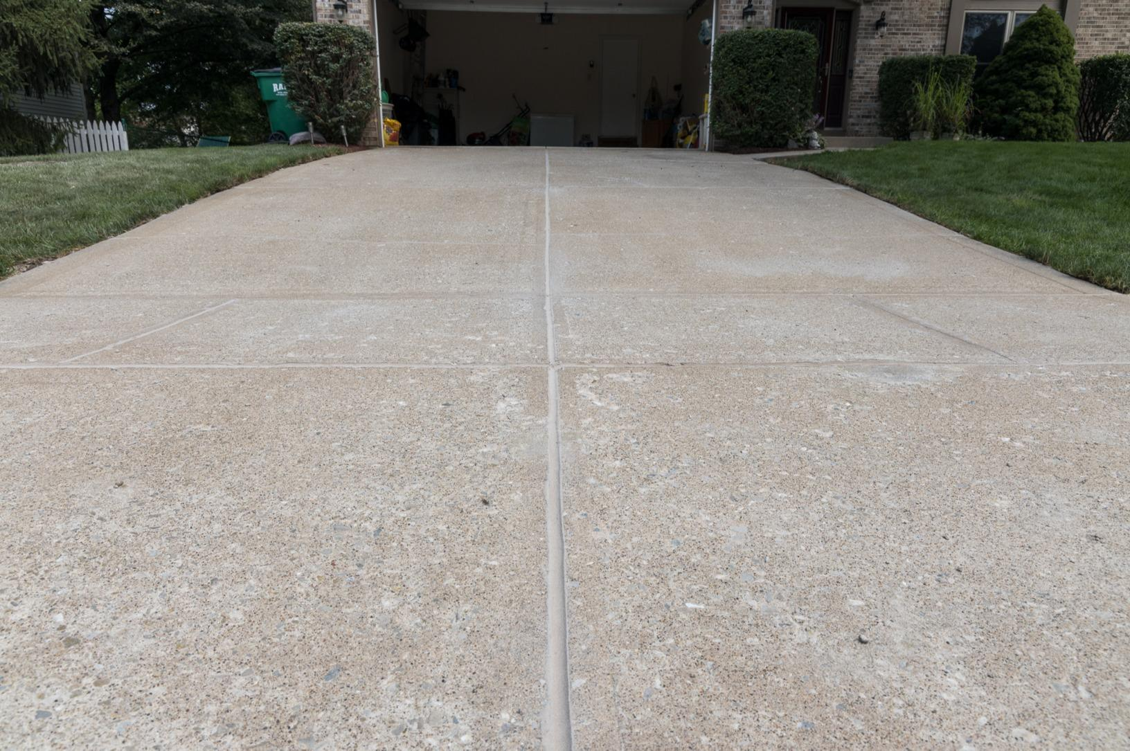 Driveway sinking- Fishers, IN - After Photo