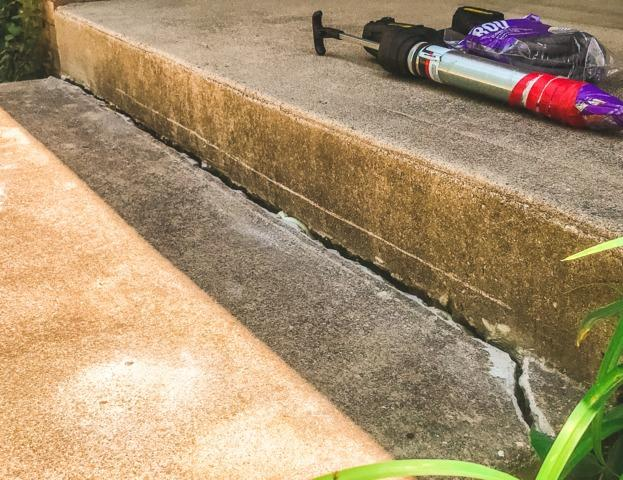 Front step sinking and cracked- Indianapolis, IN