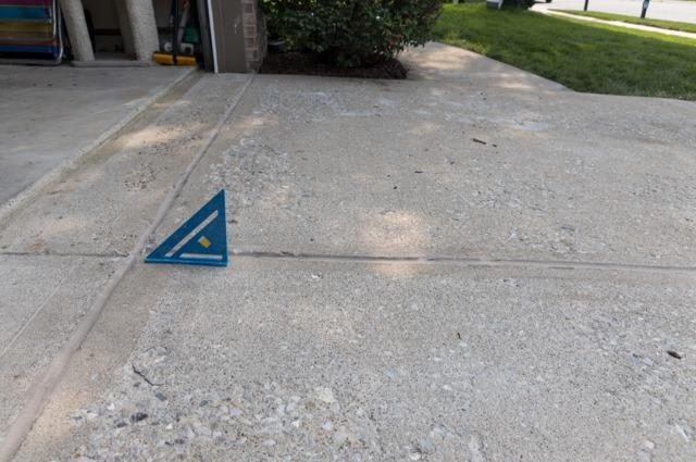 Sinking Driveway- Fishers IN - After Photo
