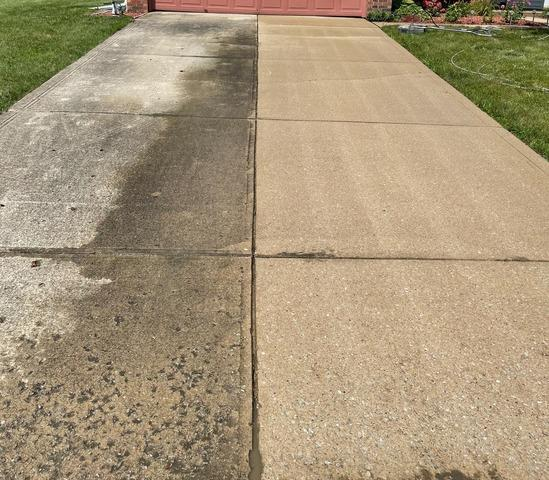 Clean, seal, and joint repair- Indianapolis, IN - Before Photo