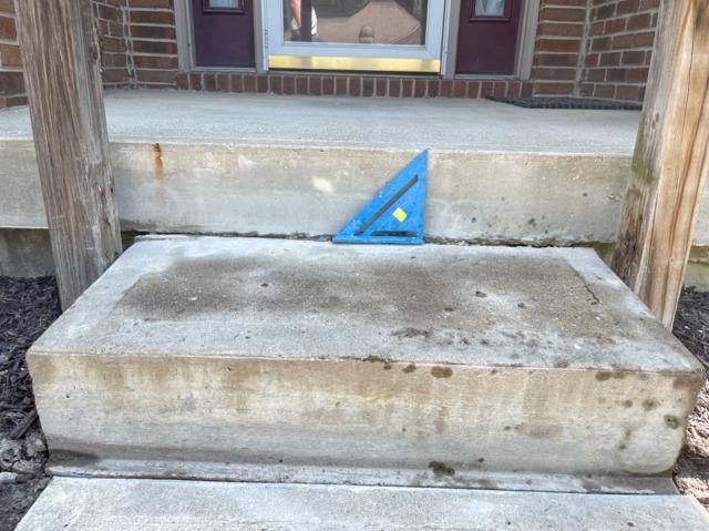Sunken front step- Avon Indiana