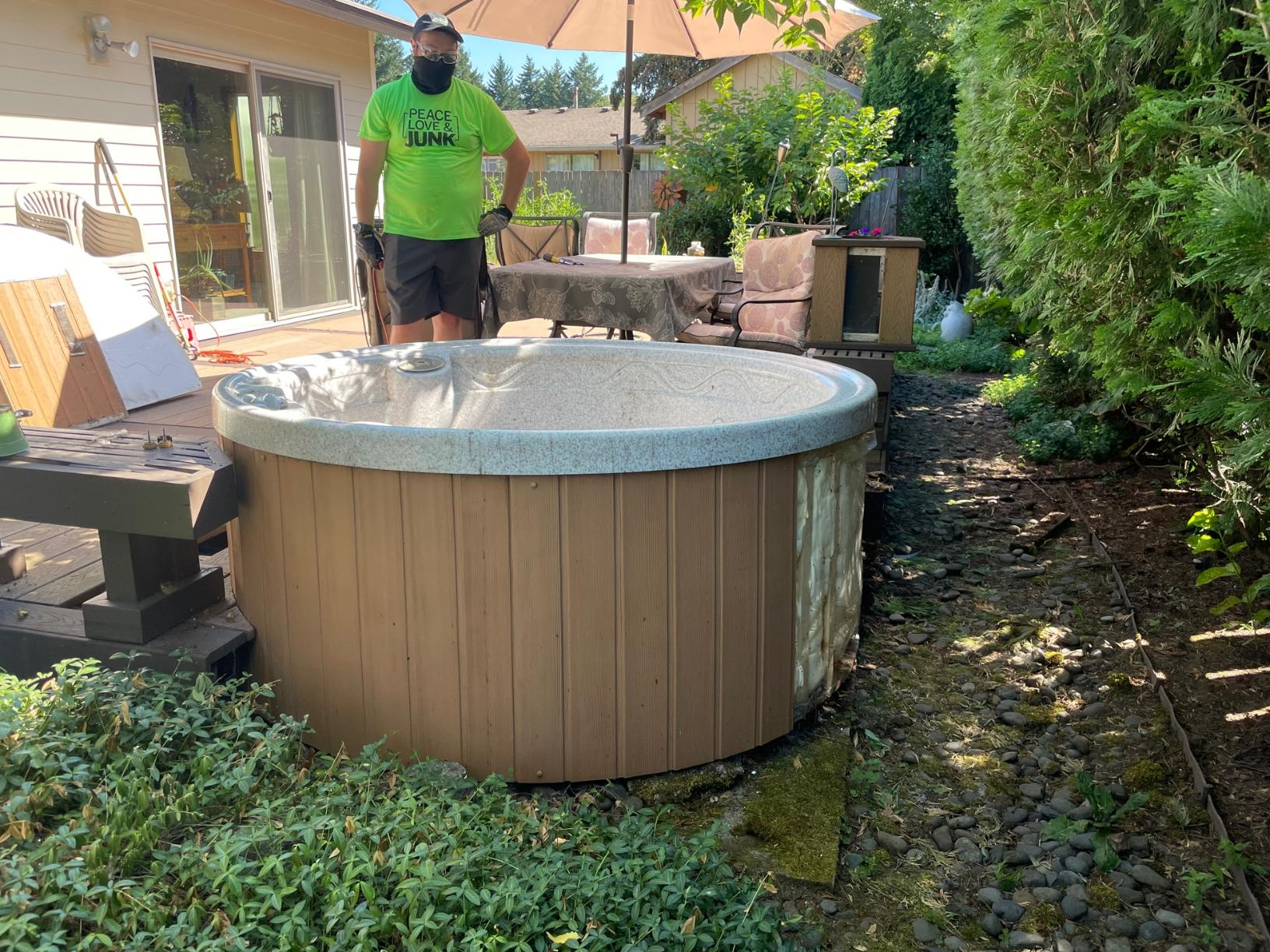 Troutdale, Or - Hot Tub Removal - Before Photo