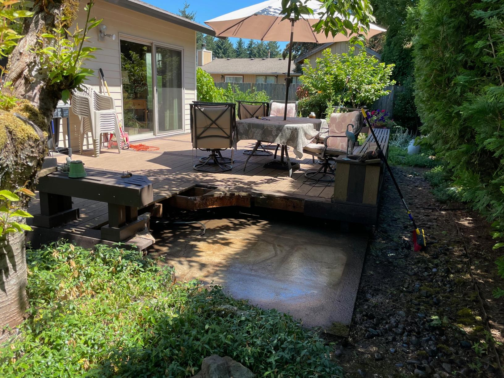 Troutdale, Or - Hot Tub Removal - After Photo