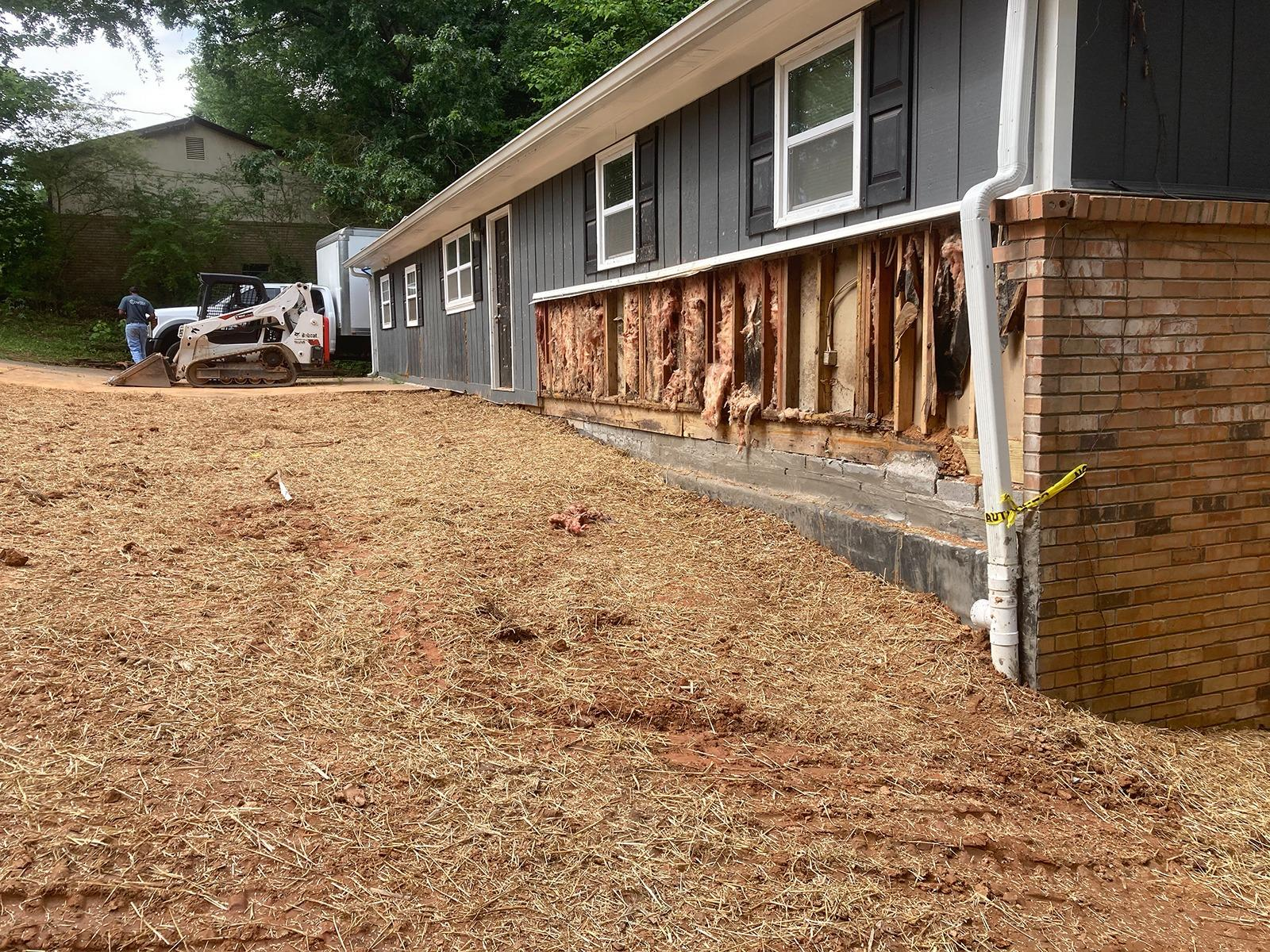 Rebuilding a Collapsed Foundation Wall in Lithia Springs, GA - After Photo