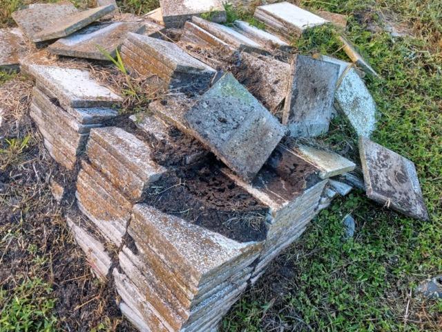 Heavy Brick Tile Removal in Santa Fe, TX - Before Photo