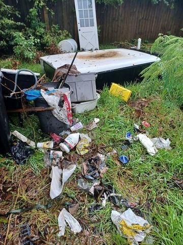 Cleaning Out a Yard in La Marque, TX - Before Photo