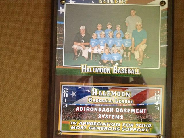 Adirondack Basement Systems is Proud to be a Sponsor of the Halfmoon Baseba...