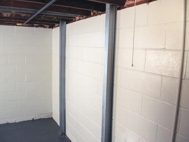 Help for bowing Foundation walls London Sarnia Lambton Advanced Basement Systems