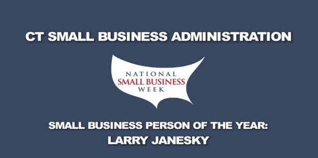 Larry Janesky Accepts Award as Small Business Person of the Year from SBA