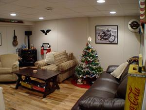A Functional Basement Just in Time for the Holidays