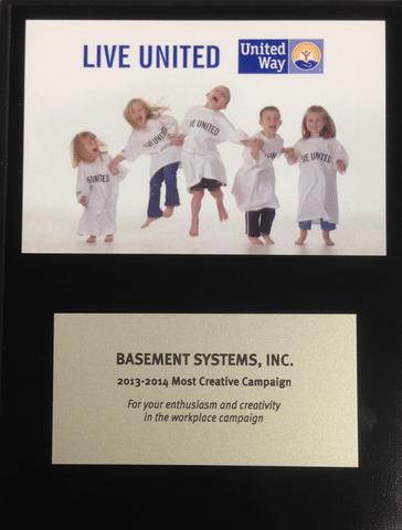 Basement Systems Receives Awards from United Way 2013-2014 Ceremony