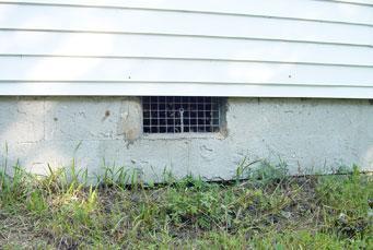 open crawlspace vent