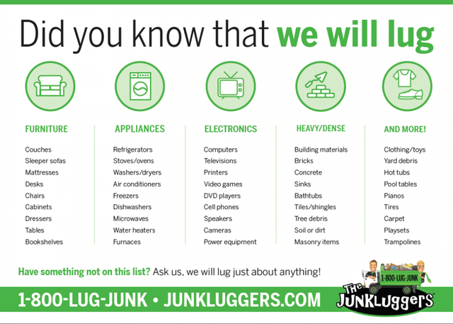 Need Junk Removal? We'd LUG to Help!