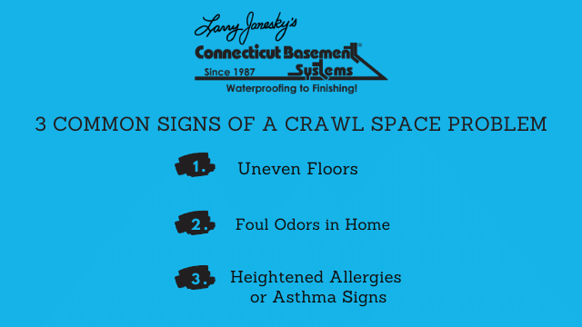 3 Common Signs of a Crawl Space Problem