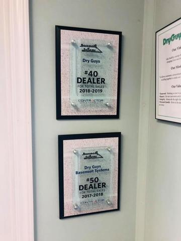 We're in the Top 40 Basement Systems Dealers!