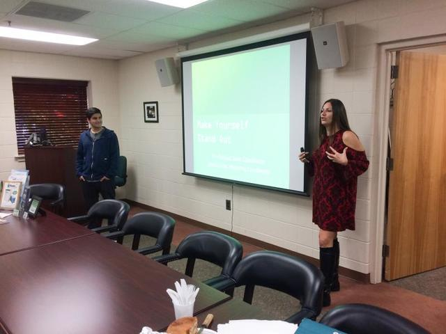 Kim And Jesse Present Marketing Strategies To The Salem County Chamber Of C...