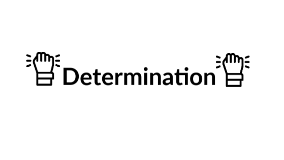 Determination fits very well at the bottom of Frontier's values list because we must be determined to succeed in every...