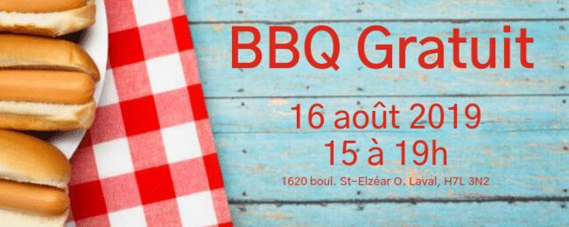 BBQ gratuit en soutien à la Croix-Rouge canadienne - 16 août 2019