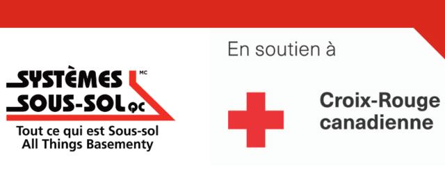 Nous soutenons la mission de la Croix-Rouge canadienne - on égalise les do...