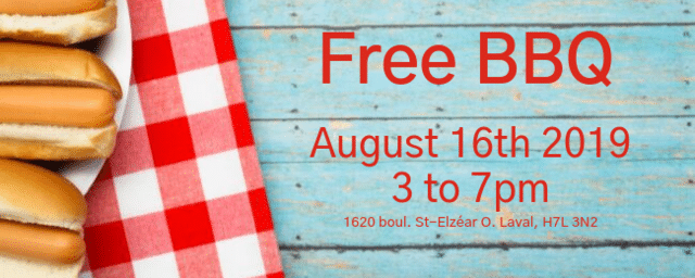 Free BBQ in support of the Canadian Red-Cross - August 16th, 2019