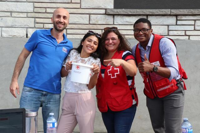 Our first BBQ to support the Red-Cross was a success!