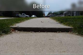 Settled Sidewalk Before PolyLEVEL