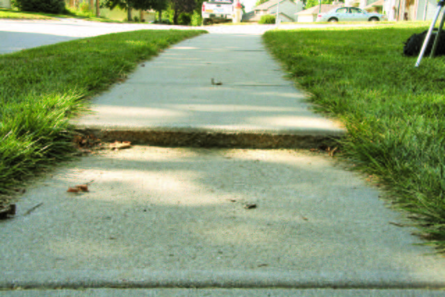 Whether jogging, bicycling, or simply walking around the the city of Des Moines you will notice lots of uneven sidewalks,...