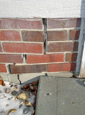 Garage Wall Cracks Due to Street Creep