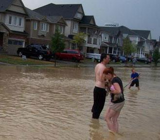 Binbrook, Ontario Massive Rain Causes Flooding in Over 100 Basements